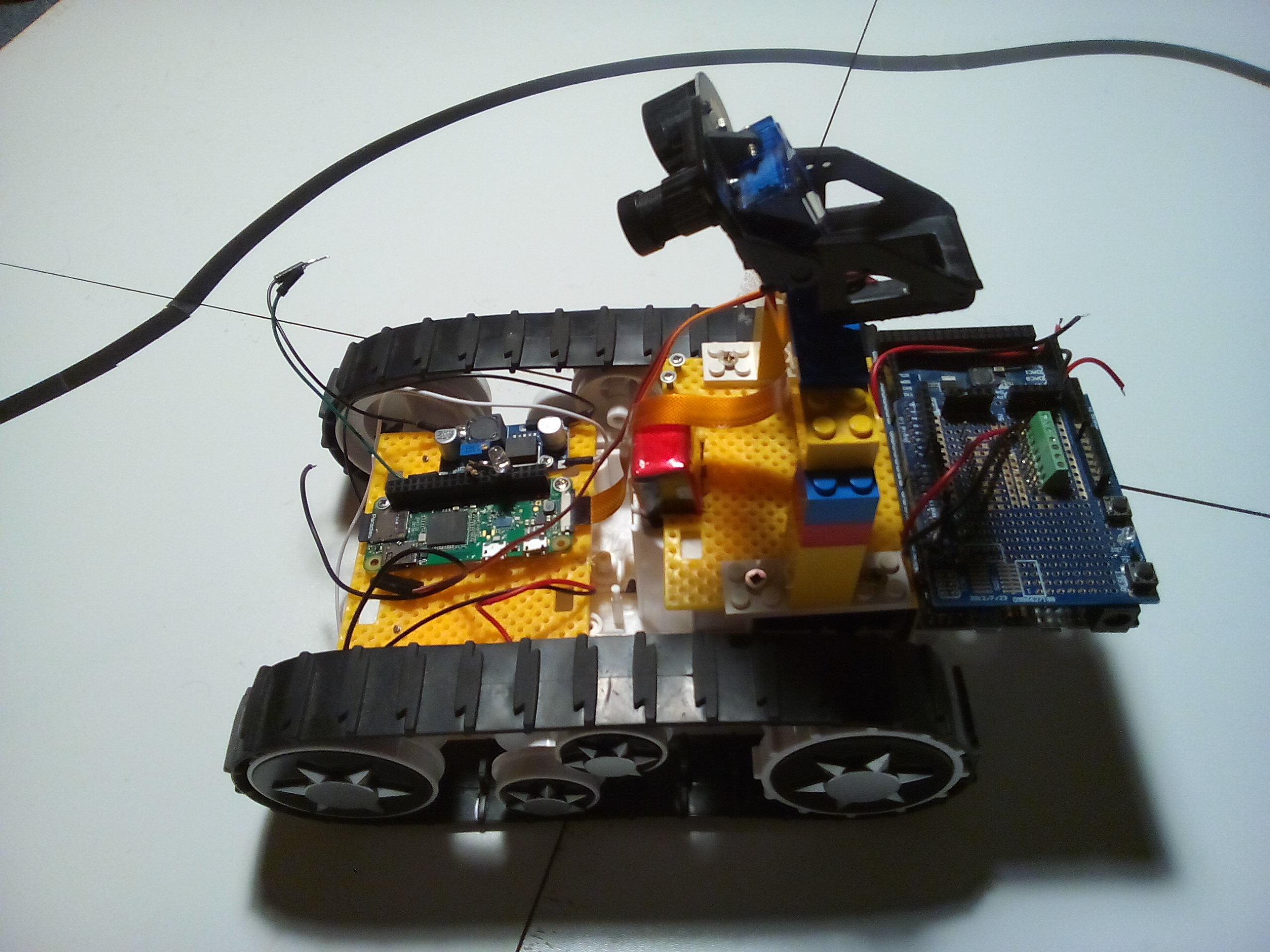 Cheap Caterpillar Robot Platform Restrained At Custom Office Page 3 Wiringpi Pwmwrite Next Step Recabling Pi Zero And Raspberry Due This Time Servo Controlling Camera Gradient Will Be Controlled From Not Arduino